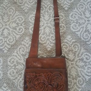 New Patricia Nash Tooled Leather Cross Body Purse